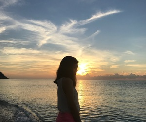 beach, beautiful, and silhoutte image