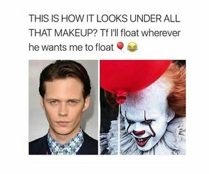 funny, bill skarsgård, and it image