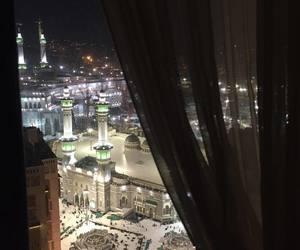 city, light, and mecca image