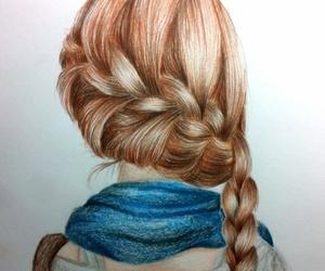 beautiful, drawing, and braid image