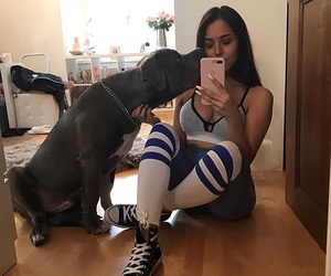 dogs, goals, and knee socks image