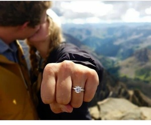 engaged, kiss, and romantic image