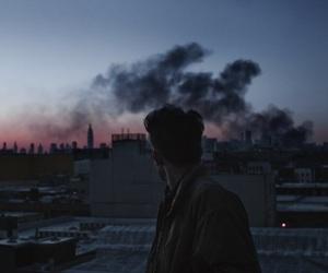 boy, grunge, and sky image