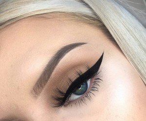 beauty, eyes, and nude makeup image