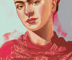 wallpaper, Frida, and red image