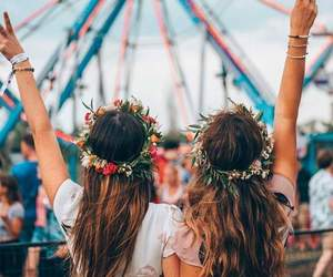 friends, style, and festival image