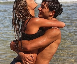 beach, couple, and goal image