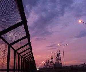 sky, sunset, and purple image