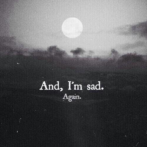 sad, again, and moon image