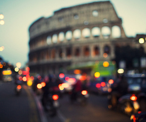 city, colosseum, and Darkness image