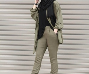 hijab, beauty, and outfit image
