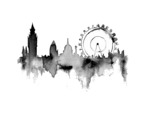 black, london, and white image