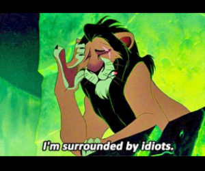 funny, idiots, and scar image