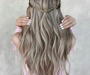braid, hair, and fashion image