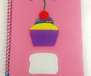 bookcase, defter, and cute image
