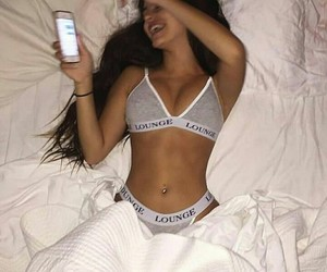 bed, laugh, and piercing image