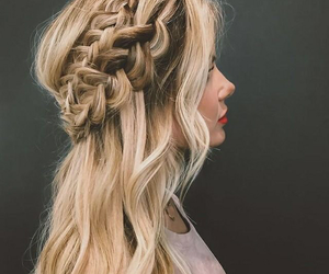 blond, boho, and braids image