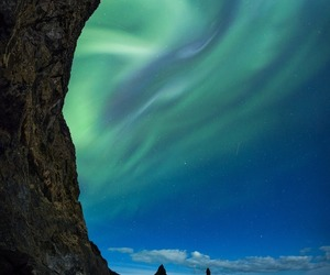 iceland and northern lights image
