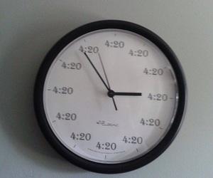 420, clock, and grunge image