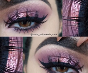 lashes, make-up, and pink image