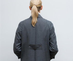 blonde, coat, and fashion image