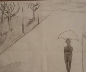 drawing, life, and sad image