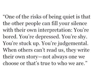 quiet, quotes, and life image