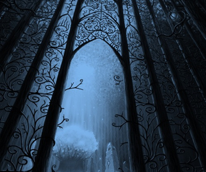 fantasy, gate, and dark image