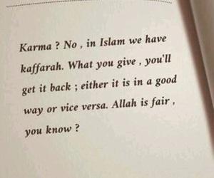islam, karma, and allah image