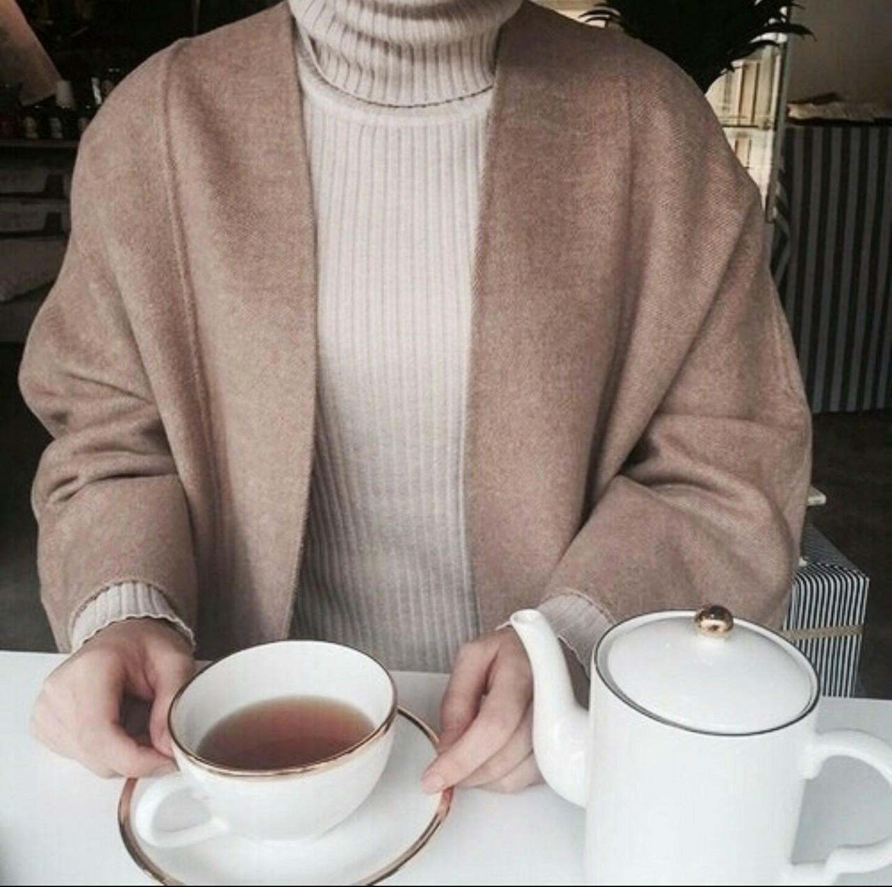tea, beige, and style image