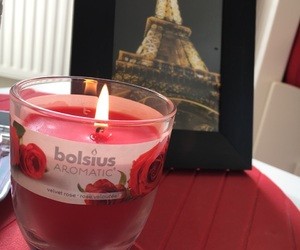 candle, light, and paris image