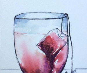 tea, watercolor, and art image