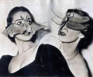 vintage, bat, and mask image