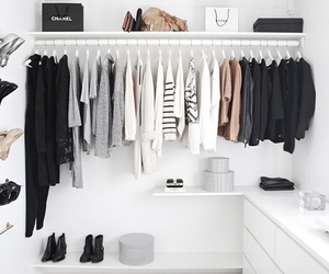 clothes, white, and closet image