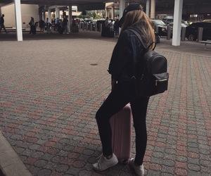 adidas, airport, and black image