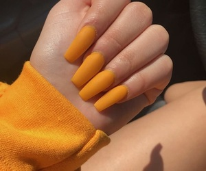 aesthetic, nails, and yellow image
