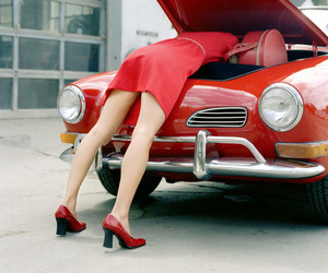 cars, red, and style image