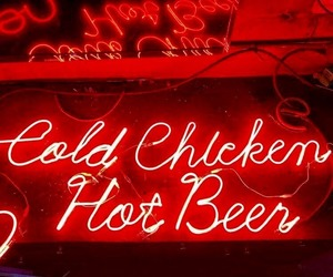 neon signs and red image