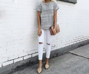 denim, fashion, and grey image