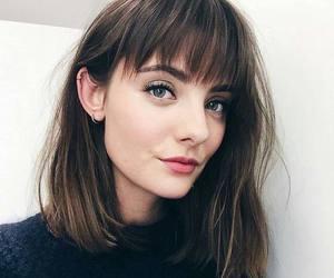 hair, girl, and bangs image