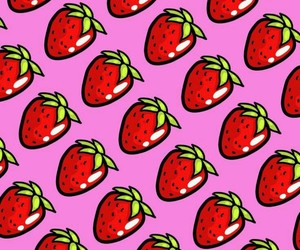 background, strawberries, and wallpaper image