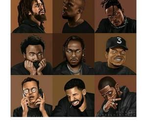 art, Drake, and kanye image