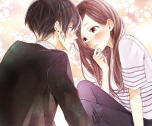 art, shoujo, and manga couple image