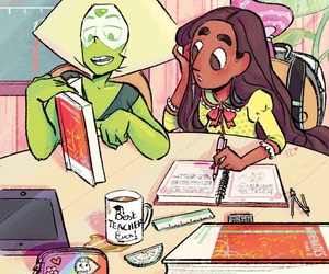 connie, peridot, and steven universe image