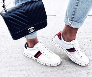 gucci, chanel, and shoes image