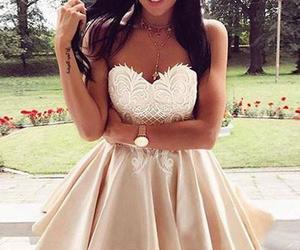 prom dress, homecoming dresses, and homecoming dress lace image