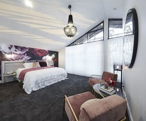 bed, black, and decor image