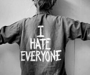 back, hate, and black white image