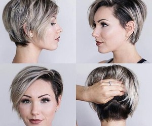 cut, grey, and hair image
