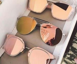 fashion, rose gold, and sunglasses image